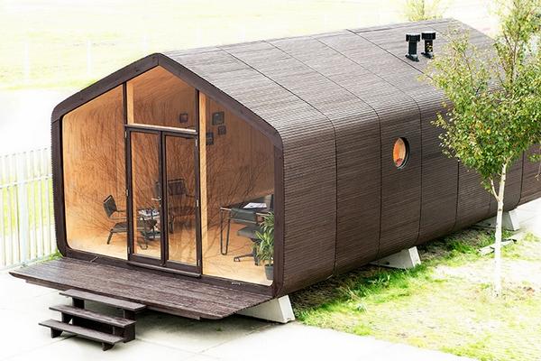 wikkel house une maison modulable en carton recycl. Black Bedroom Furniture Sets. Home Design Ideas