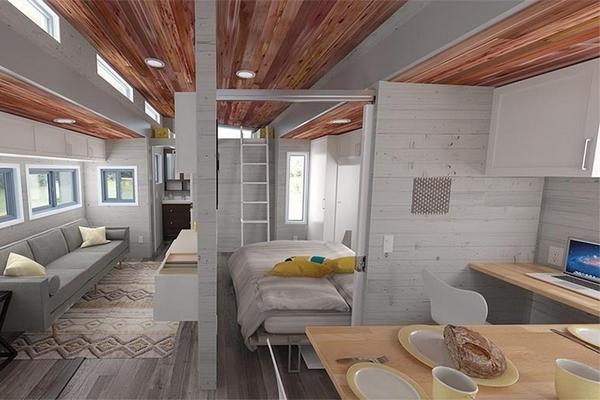 aurora une tiny house extensible. Black Bedroom Furniture Sets. Home Design Ideas
